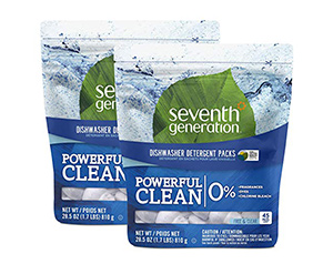best seventh generation free clear automatic dishwasher detergent
