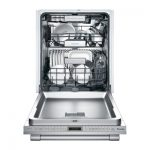 Thermador Star Sapphire DWHD870WFP fully open dishwasher