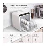 NOVETE TDQR01 Compact Countertop Dishwasher