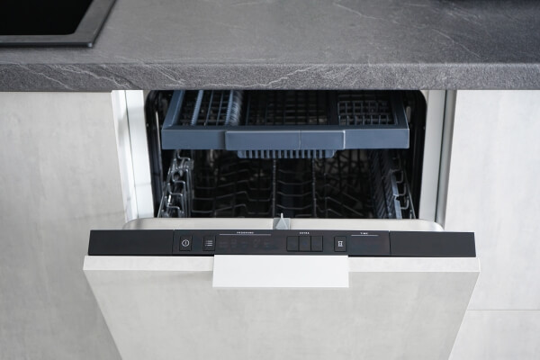 open dishwasher door